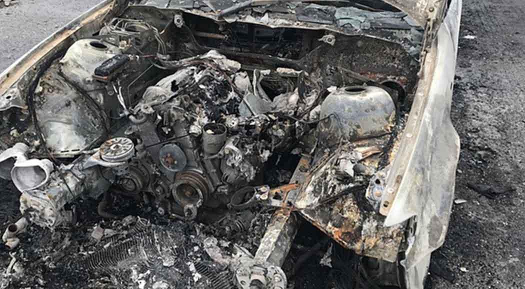 Вчера вПрикамье сгорели автобус иавтомобиль