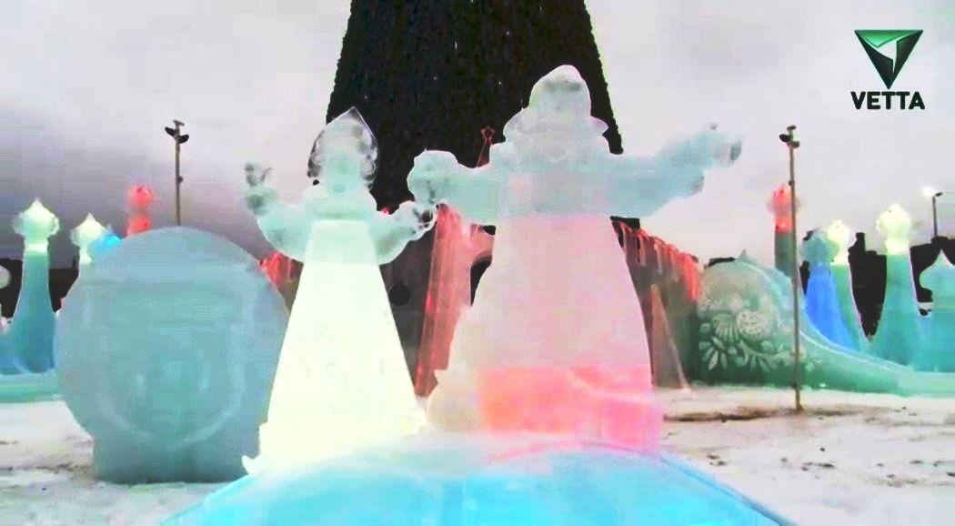 Около 100 тыс. человек посетили ледовый городок на основной площади Челябинска