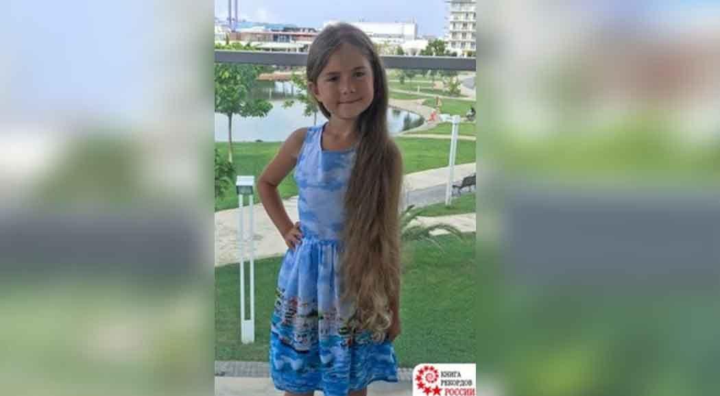 Шестилетняя пермячка угодила вКнигу рекордов Российской Федерации из-за длинных волос