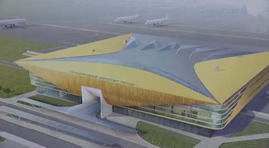 Новый аэропорт вПерми идорожная развязка ктерминалу строятся пографику